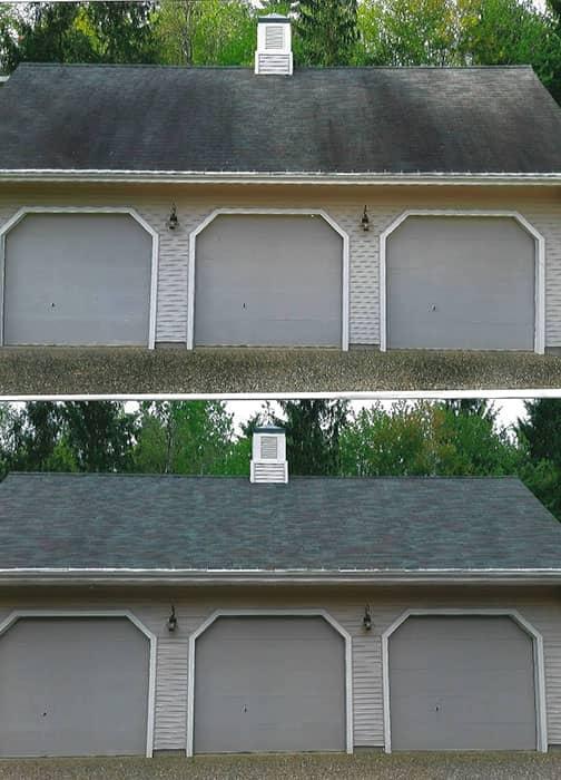 Clean Roof on Garage